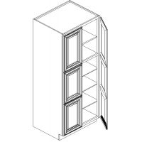 "30"" WIDE 84"" HIGH 24"" DEEP WALL PANTRY CABINET 4 DOOR 3 ROLLOUTS"