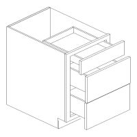 "21"" WIDE DRAWER BASE 3 DRAWER (2 BIG 1 SMALL)"