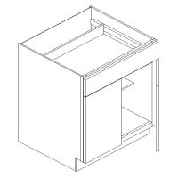 "24"" BASE CABINET - 2 DOOR, 1 DRAWER"